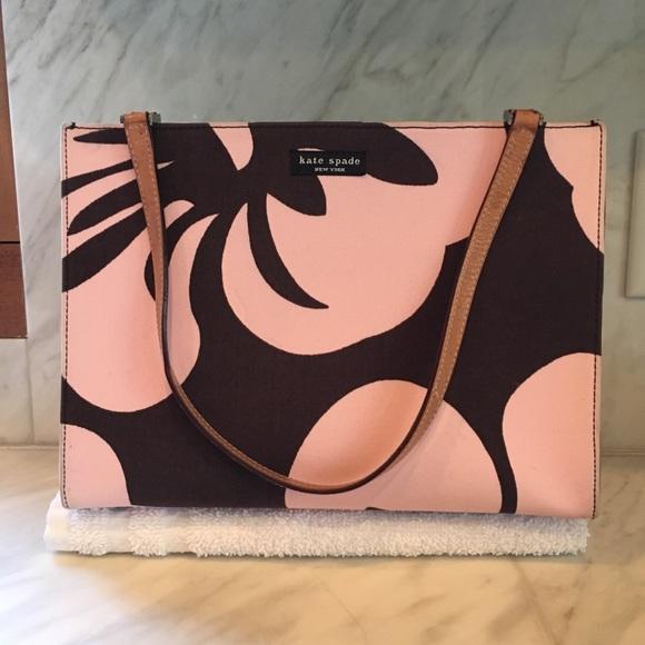 kate spade Handbags - Kate Spade pink/brown flower print tote
